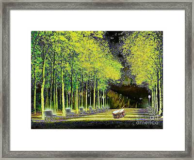 The Waiting Drum Framed Print by Mojo Mendiola
