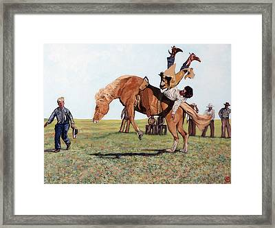 The Waiting Line Framed Print by Tom Roderick