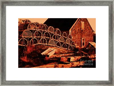The Waiting Traps Framed Print by Lydia Holly