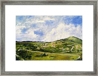 The Walk Down Horsetooth Mountain Framed Print by Maureen Carrigan