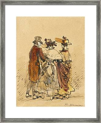 The Walk  Framed Print by Henri Bonaventure Monnier