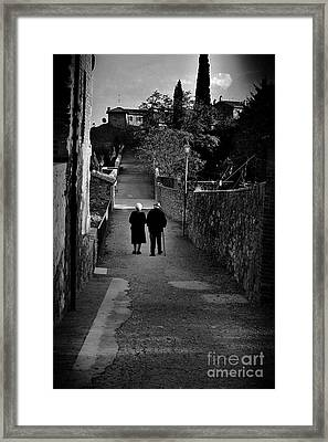 The Walk Of Life Framed Print