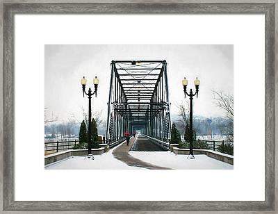 The Walking Bridge Framed Print by Lori Deiter