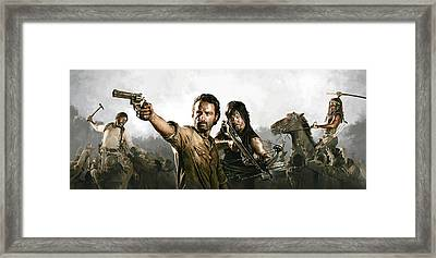 The Walking Dead Artwork 1 Framed Print by Sheraz A