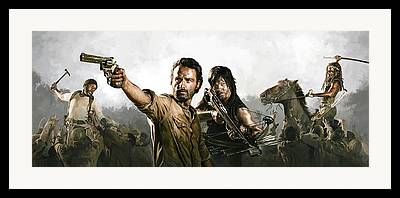 The Walking Dead Mixed Media Framed Prints