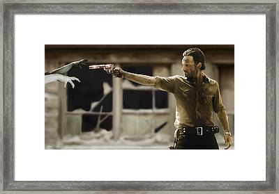 The Walking Dead Framed Print by Paul Tagliamonte