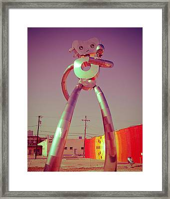 The Walking Man Framed Print by Sonja Quintero