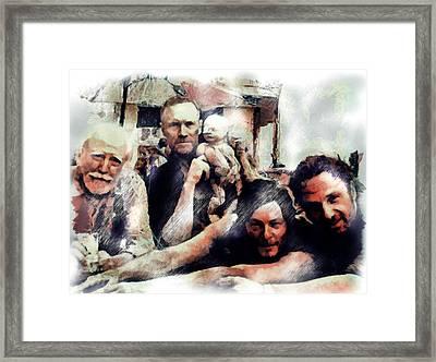 The Walking Men Framed Print by Janice MacLellan