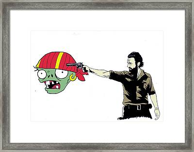 The Walking Zombie Framed Print