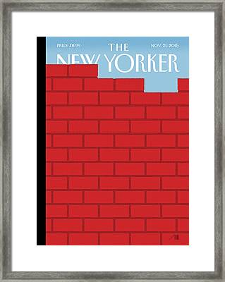 The Wall Framed Print by Bob Staake