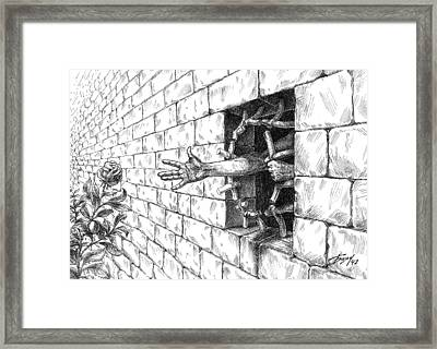 The Wall Framed Print by Boyan Donev