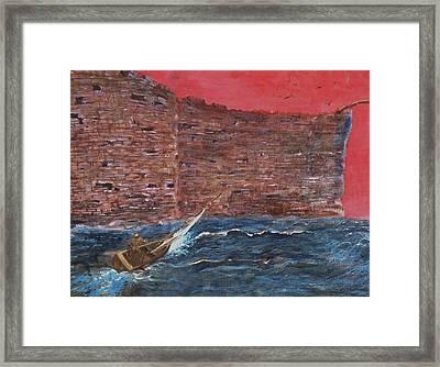 The Wall Crasher Framed Print