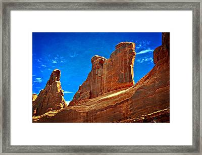 The Wall Framed Print by Marty Koch