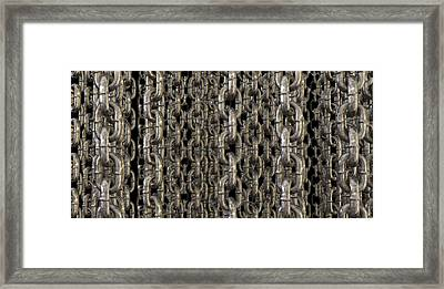 The Wall Of Hanging Chains Framed Print by Allan Swart