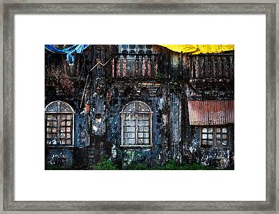 The Wall Of The Old Goan House 1. Margao. India Framed Print by Jenny Rainbow