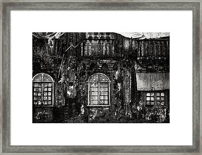 The Wall Of The Old Goan House. Margao. India Framed Print by Jenny Rainbow