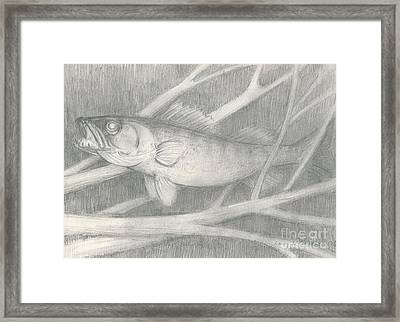 The Walleye Framed Print by Larry Green