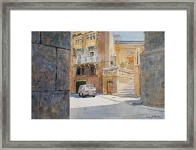 The Walls Of Birgu Framed Print