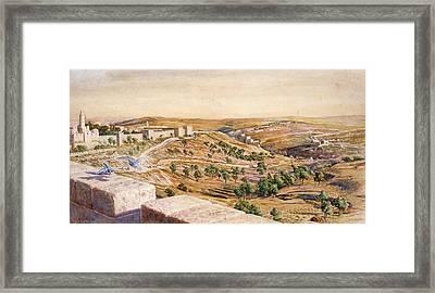 The Walls Of Jerusalem, 1869 Framed Print by William Holman Hunt