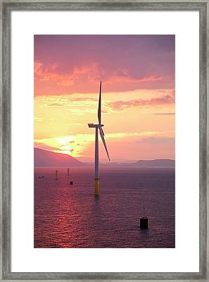 The Walney Offshore Windfarm Framed Print