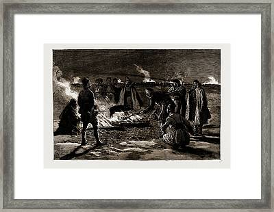 The War Between Serbia And Bulgaria, 1886 Christmas In Camp Framed Print by Litz Collection