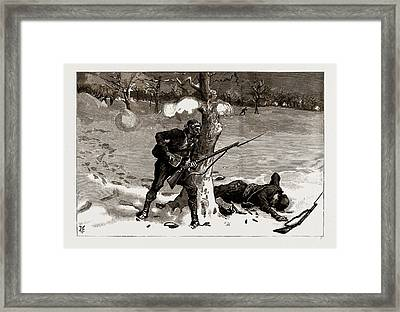 The War Between Serbia And Bulgaria, 1886 Christmas Framed Print by Litz Collection