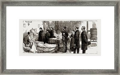 The War Between Serbia And Bulgaria The Queen Of Serbia Framed Print by Litz Collection