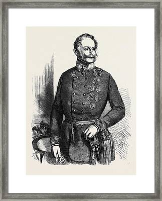 The War Count Gyulai Commander-in-chief Of The Austrian Framed Print by Austrian School