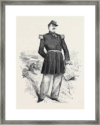 The War General Forey The Hero Of Montebello Framed Print