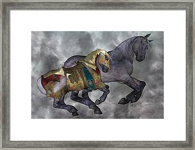 The War Horse Framed Print by Betsy Knapp