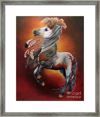 The War Horse Framed Print by Tia