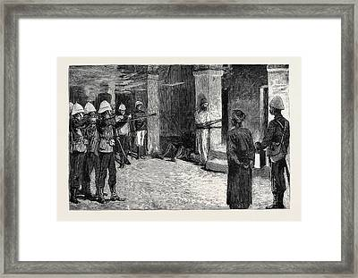 The War In Egypt The Naval Occupation Of Alexandria Framed Print by Egyptian School