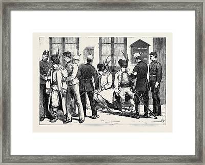 The War In The East Invalid Romanian Soldiers At A Railway Framed Print