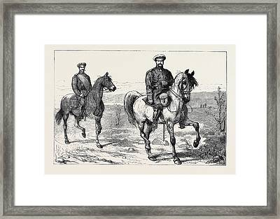 The War In The East With The Russians, The Grand Duke Framed Print by English School