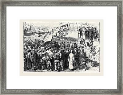 The War In The East, With The Turks Sketches Framed Print by English School