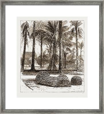 The War In The Malay Peninsula, 1876 The Barracks Framed Print