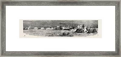 The War In The Soudan Sudan The English Cemetery At Suakim Framed Print