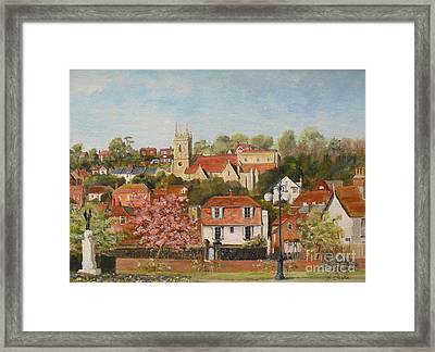 The War Memorial Hythe Framed Print