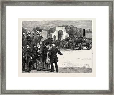 The War Of The Future Steam Sappers Marching Past At Chatham Framed Print