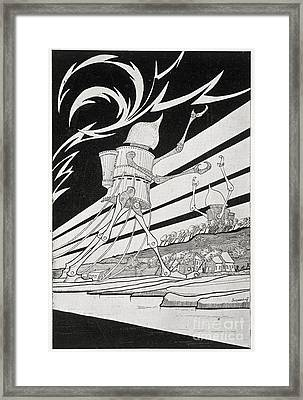 The War Of The Worlds, 1899 Edition Framed Print by British Library