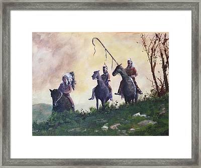 The War Party Framed Print