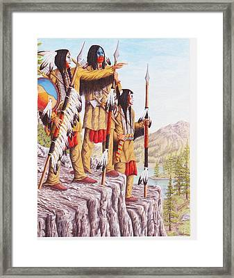 The War Path Framed Print by Billie Bowles