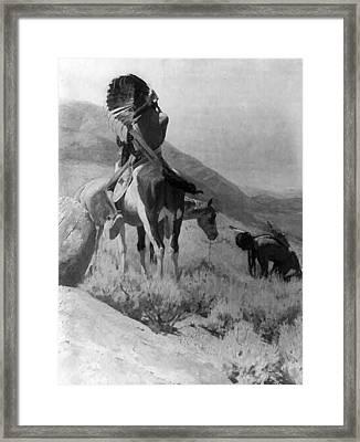 The War Signal Framed Print by W Herbert Dunton