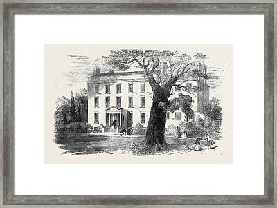 The Warehousemen And Clerks Schools, Hatcham-grove House Framed Print by English School