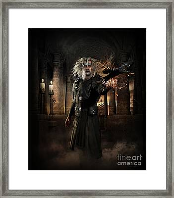 The Warlock Framed Print by Shanina Conway