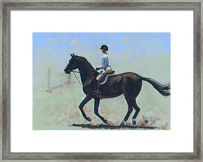 The Warm-up Framed Print by Elizabeth Lane
