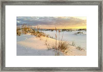 The Warmth Of The Sand Framed Print