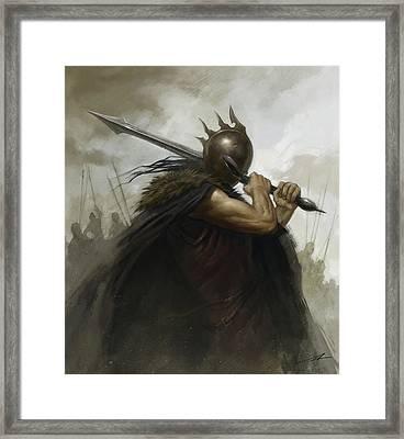 The Warrior Framed Print by Alan Lathwell