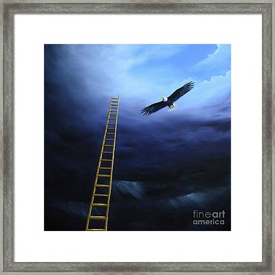 The Warrior And The Eagle Framed Print