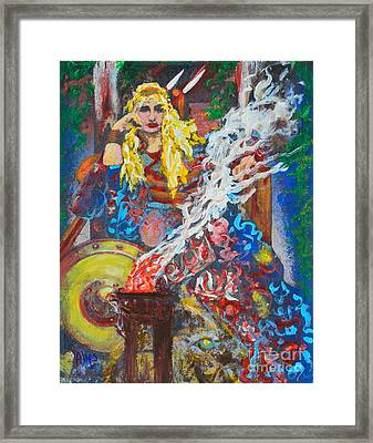 The Warrior Queen Framed Print